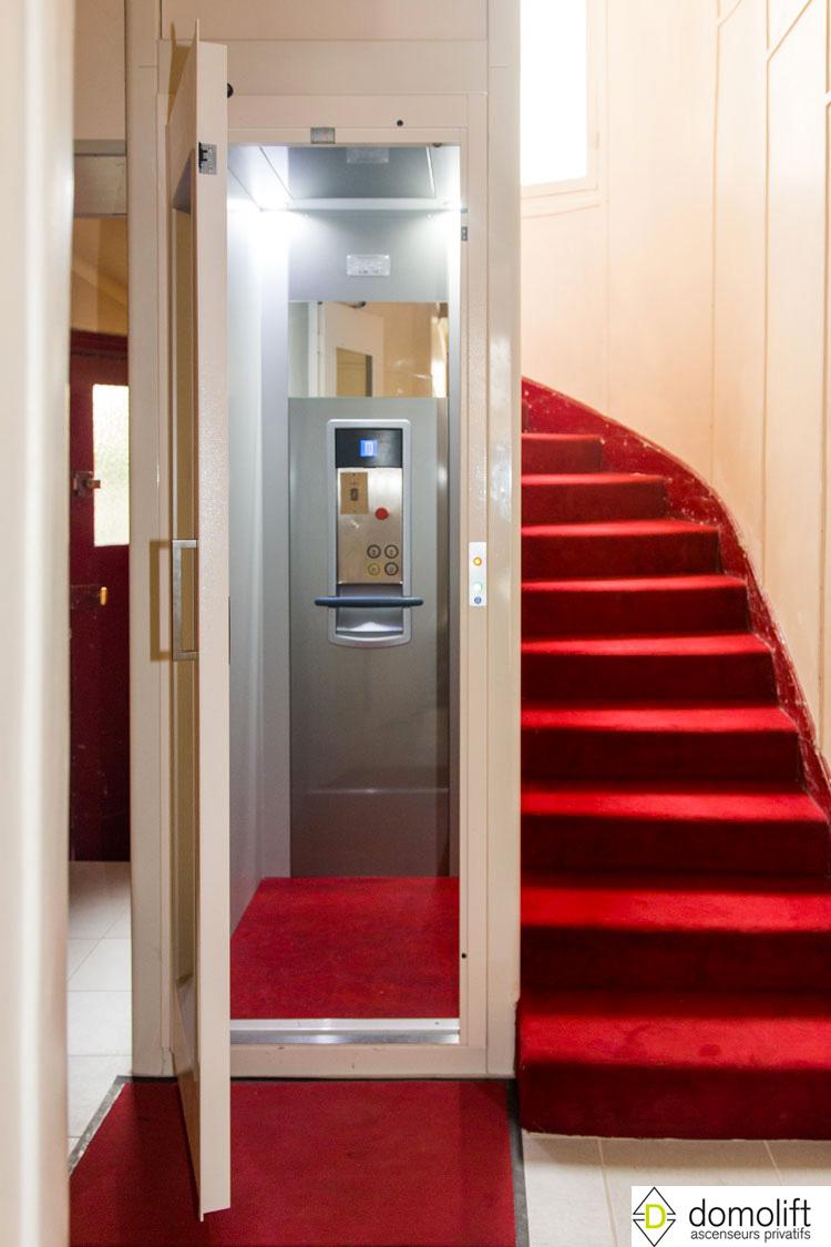 Au centre de l 39 escalier de la copropri t domolift for Agrandissement maison fiscalite